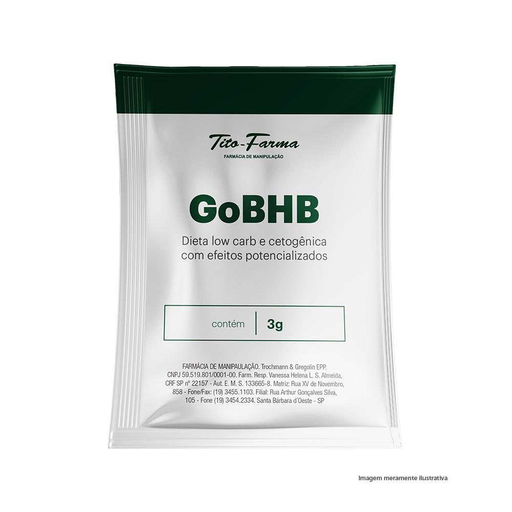 GoBHB™ - Dieta Low Carb e Cetogênica com Efeitos Potencializados (3g - 1 Sachê) - Tito Farma
