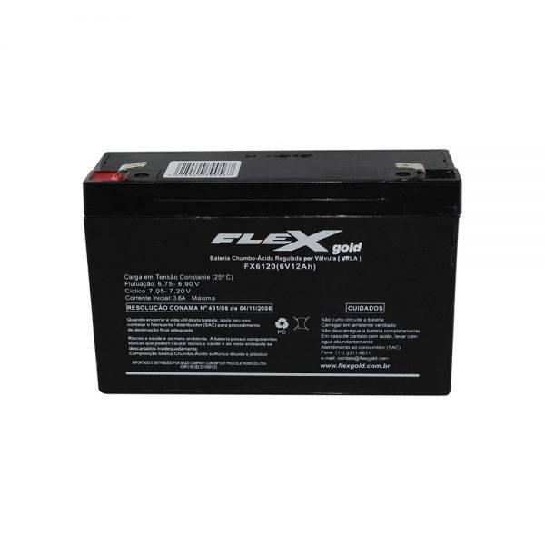 Bateria Selada 6V 12Ah FX-BS-6120 VRLA FLEX GOLD - Casa da Pilha