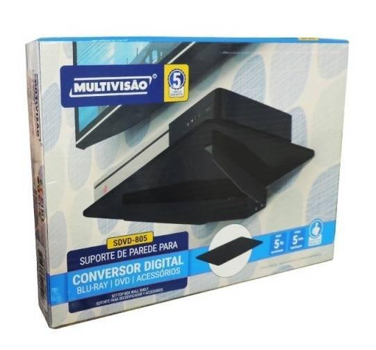 Suporte p/ DVDs e Receptores SDVD-805 MULTIVISÃO - Casa da Pilha