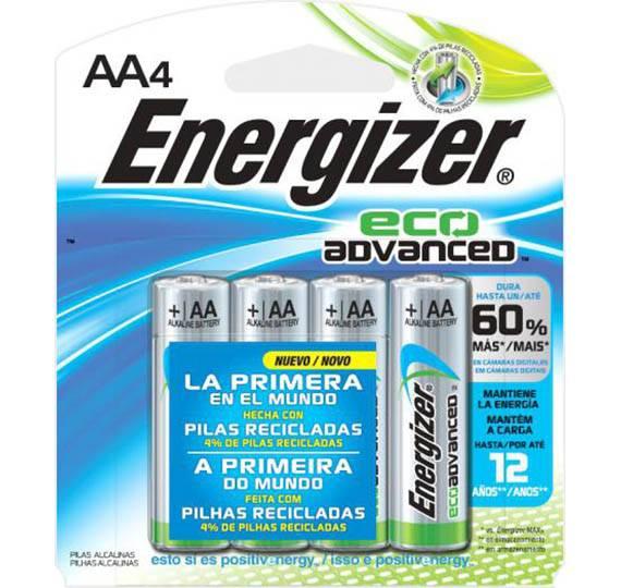 Pilha AA Alcalina Eco Advanced ENERGIZER Blister c/ 4un. - Casa da Pilha