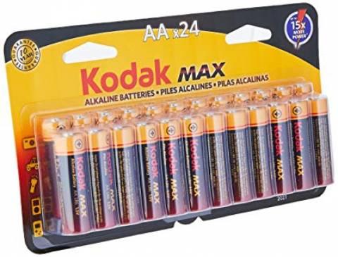 Pilha AA Alcalina KODAK MAX Blister c/ 24un. - Casa da Pilha
