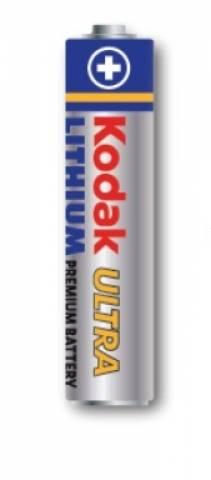 Pilha AAA Lithium KODAK ULTRA Blister c/ 4un. - Casa da Pilha