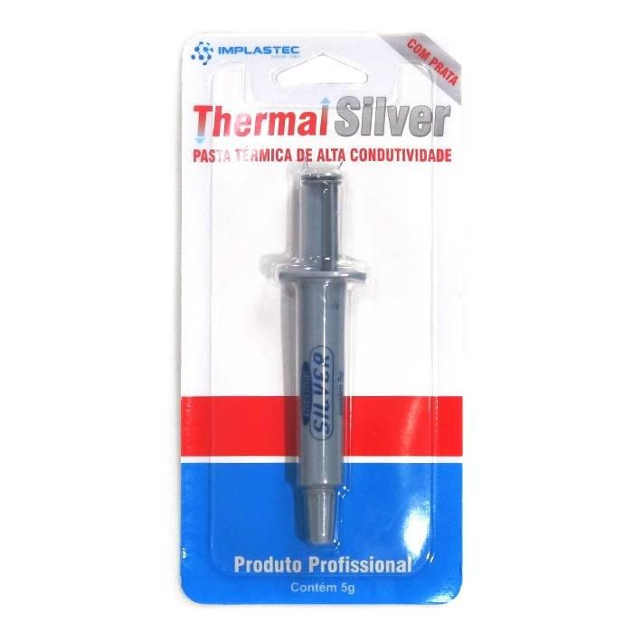 Pasta Térmica Prata Thermal Silver 1,6 W/mK 5g Implastec  - Casa da Pilha