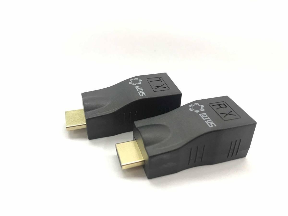 Extensor HDMI Via RJ45 até 30m Cat 5/6 1080p LT 143 LOTUS - Casa da Pilha