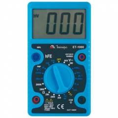 Multímetro Digital Portátil LCD ET-1000 MINIPA