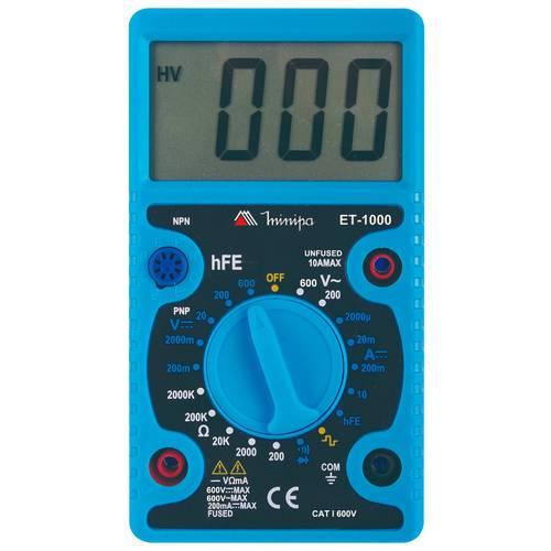 Multímetro Digital Portátil LCD ET-1000 MINIPA - Casa da Pilha
