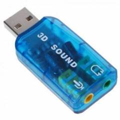 Placa de Som USB 5.1 3D AC-3