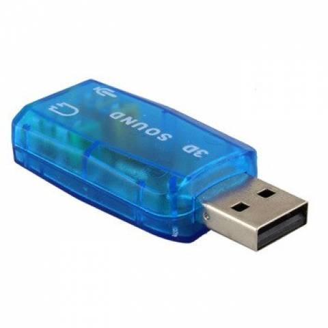 Placa de Som USB 5.1 3D AC-3 - Casa da Pilha