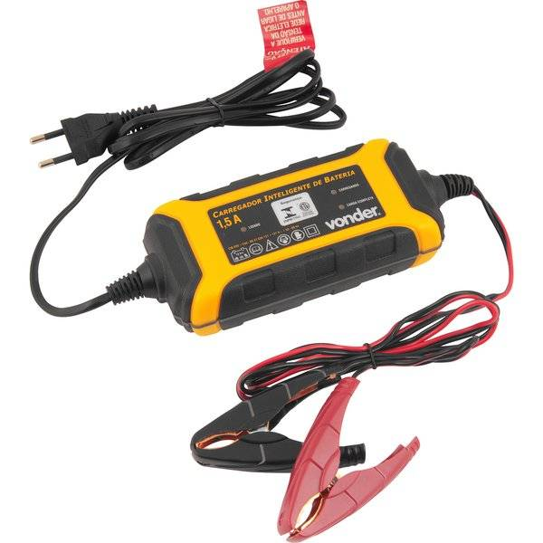 Carregador Inteligente de Bateria 1,5A 12V CIB 030 VONDER - Casa da Pilha