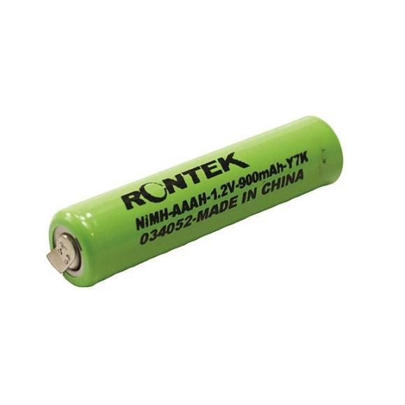 Bateria 1.2V 900mAh AAA NIMH c/ Terminal RONTEK - Casa da Pilha