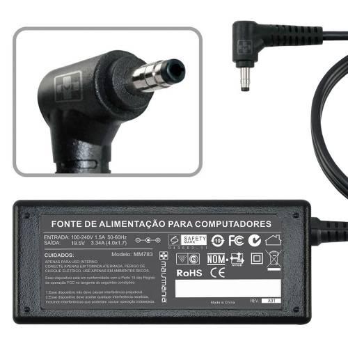 Fonte p/ Notebook 19.5V 3.34A Bivolt 4.0×1.7mm MAISMANIA - Casa da Pilha
