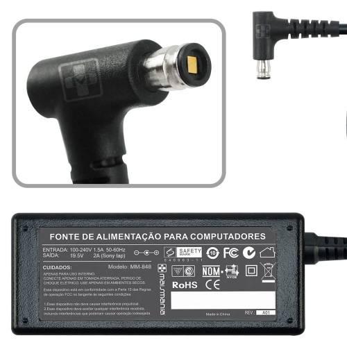 Fonte p/ Notebook 19.5V 2A Bivolt Plug Especial MAISMANIA - Casa da Pilha