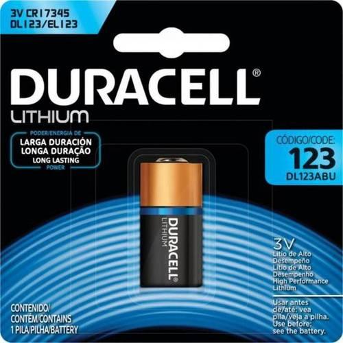 Bateria 3V DL123ABU CR123A CR17345 Lithium DURACELL - Casa da Pilha