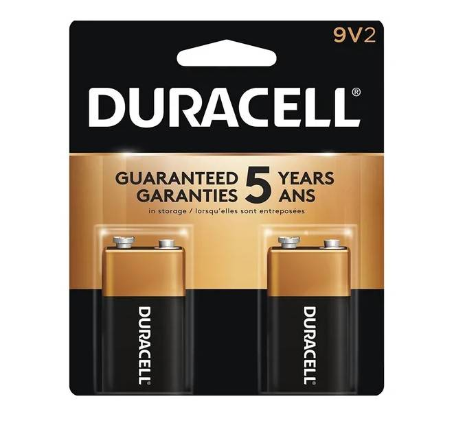 Bateria 9V Alcalina Duracell Blister c/ 2un. - Casa da Pilha