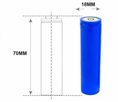Bateria 3,7V 1800mAh RTLI 18650 Lithium p/ Fotopolimerizador - Casa da Pilha