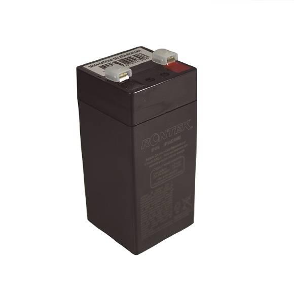 Bateria Selada 4V 4Ah VRLA RONTEK - Casa da Pilha