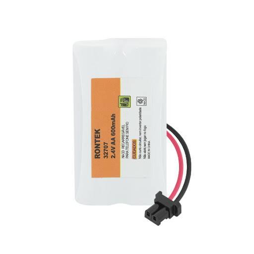 Bateria p/ Telefone s/ Fio 2,4V 600mAh 2xAA RONTEK - Casa da Pilha