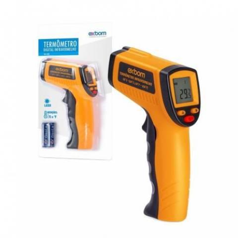 Termômetro Digital p/ Superfícies c/ Infrared e Mira Laser TDI-330 - Casa da Pilha