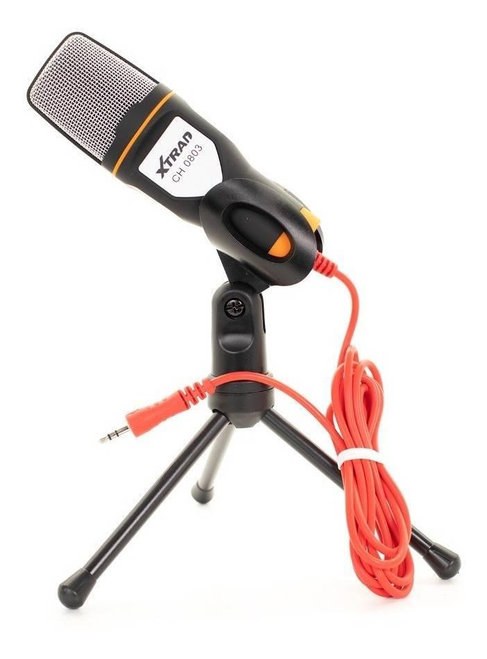 Microfone Condensador P2 c/ Tripé CH-0803 XTRAD - Casa da Pilha