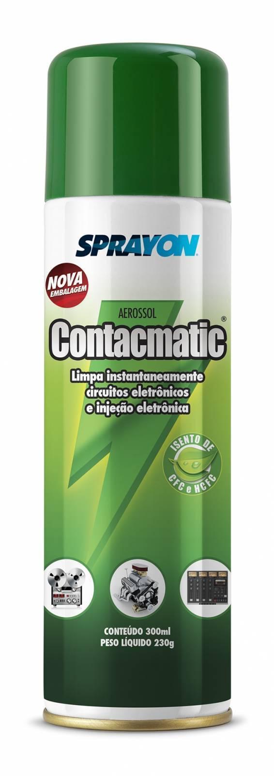 Spray Contacmatic Aerossol Limpa Contatos 350ml SPRAYON - Casa da Pilha