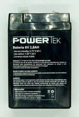 Bateria Selada 6V 2,8Ah VRLA POWERTEK