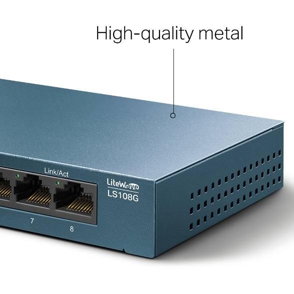 Switch 8 Portas Gigabit 10/100/1000 LS108G TP-LINK - Casa da Pilha
