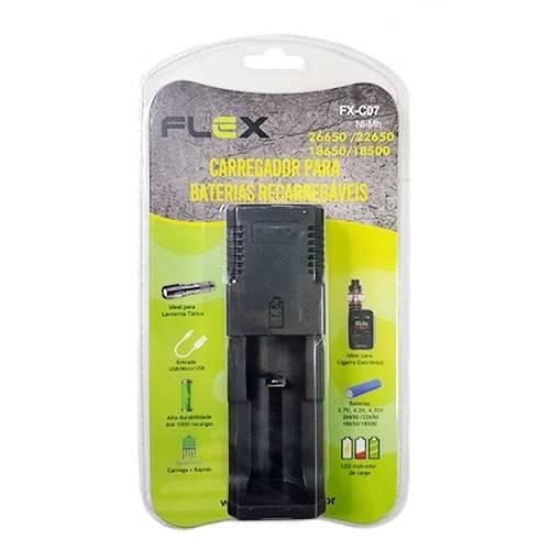 Carregador de Baterias de Lithium Universal FX-C07 FLEX - Casa da Pilha