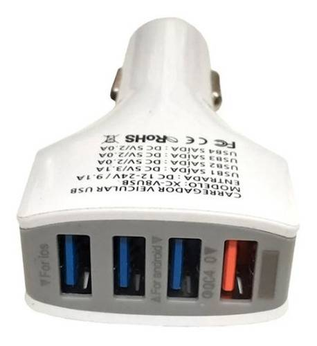 Carregador USB Veicular 4 USB 9.1Ah 48W QC 4.0 XC-V8USB X-CELL - Casa da Pilha