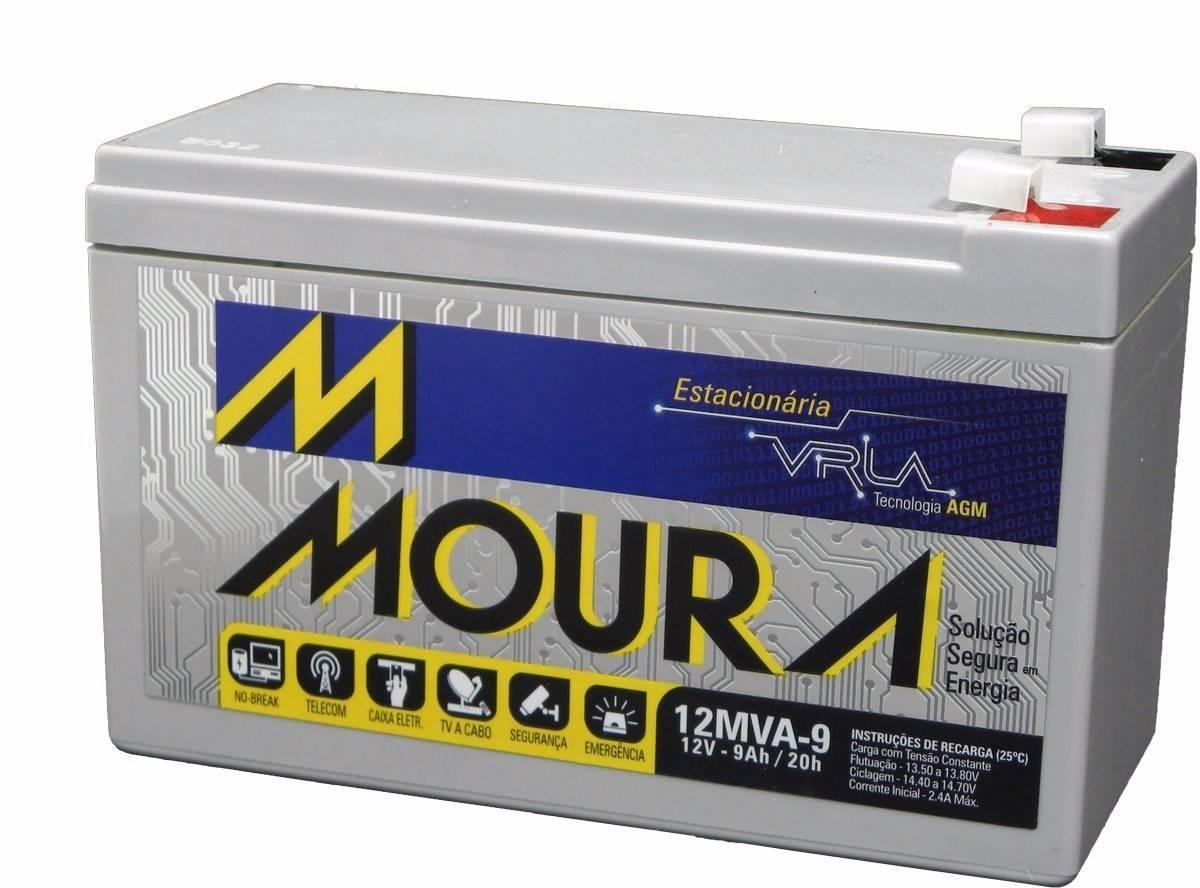 Bateria Selada 12V 9Ah VRLA MOURA - Casa da Pilha