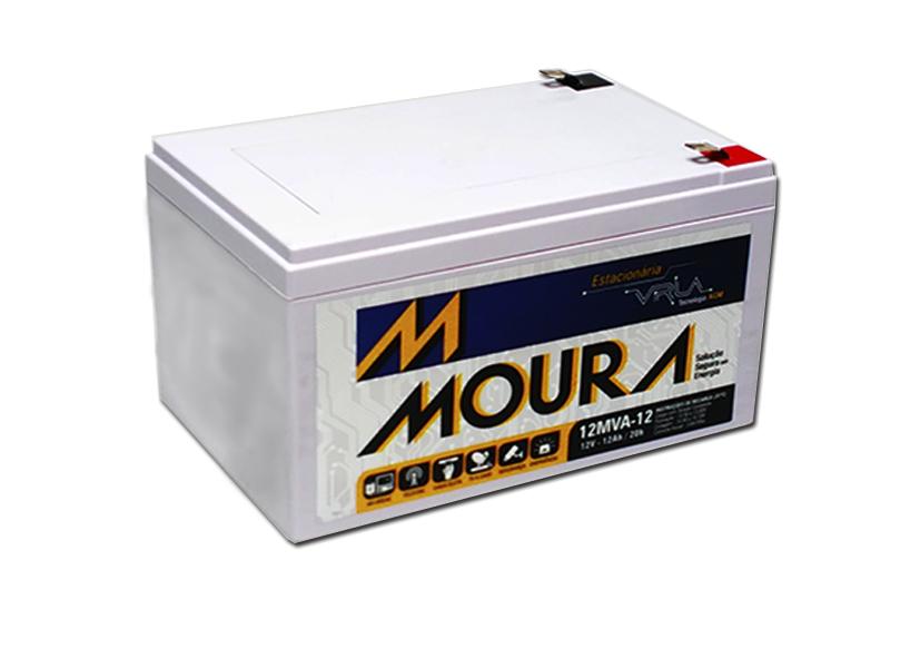 Bateria Selada 12V 12Ah VRLA MOURA - Casa da Pilha