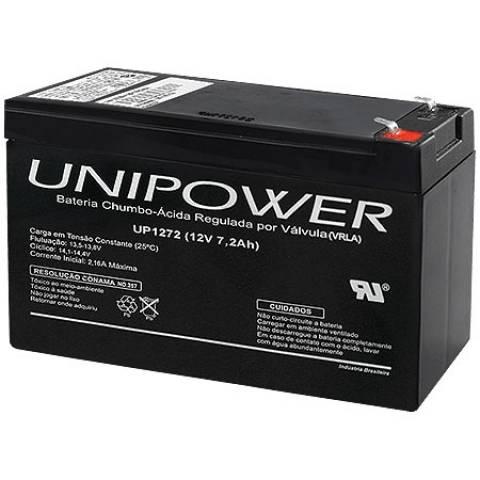 Bateria Selada 12V 7,2Ah UP1272 VRLA UNIPOWER - Casa da Pilha