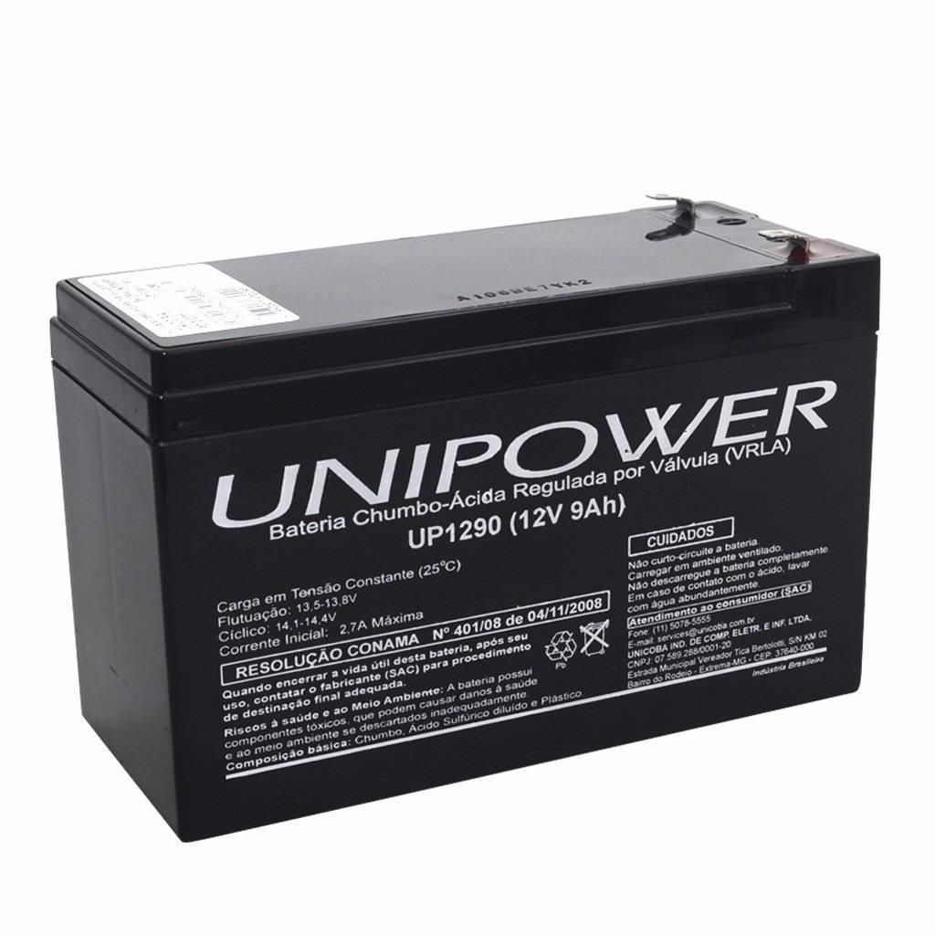 Bateria Selada 12V 9Ah UP1290 VRLA UNIPOWER - Casa da Pilha