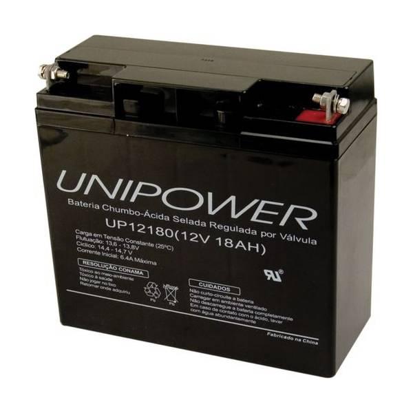 Bateria Selada 12V 18Ah UP12180 VRLA UNIPOWER - Casa da Pilha