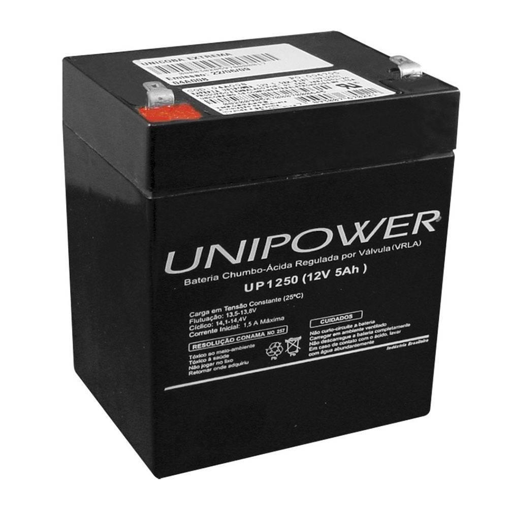 Bateria Selada 12V 5Ah UP1250 VRLA UNIPOWER - Casa da Pilha