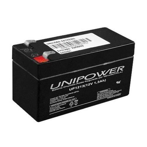Bateria Selada 12V 1,3Ah UP1213 VRLA UNIPOWER - Casa da Pilha