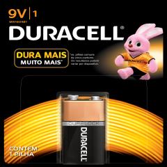 Bateria 9V Alcalina Duracell Blister c/ 1un.