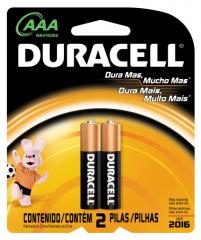 Pilha AAA Alcalina Duracell Blister c/ 2un.