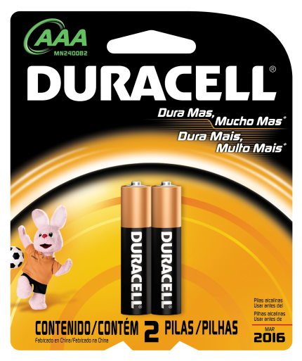 Pilha AAA Alcalina Duracell Blister c/ 2un. - Casa da Pilha