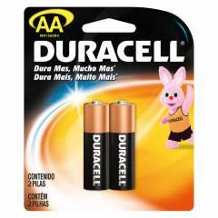 Pilha AA Alcalina Duracell Blister c/ 2un.