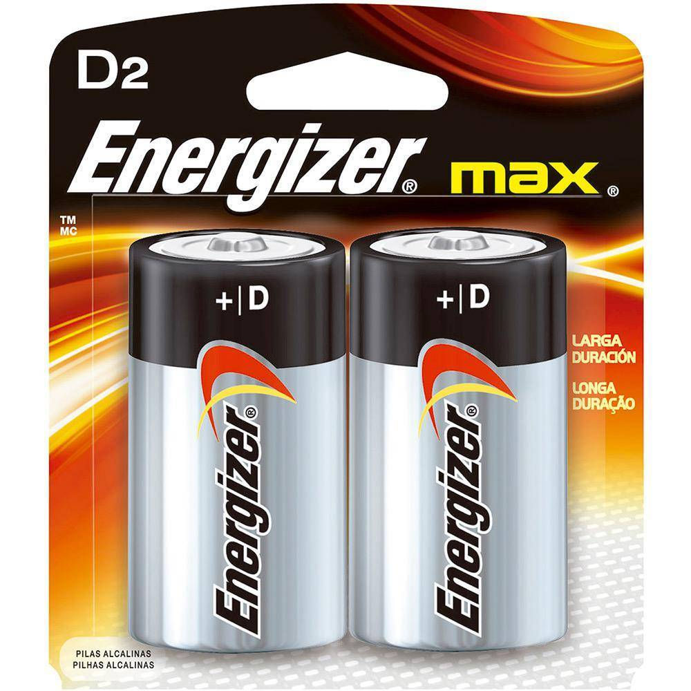 Pilha Tipo D (grande) Energizer Max Blister c/ 2un. - Casa da Pilha