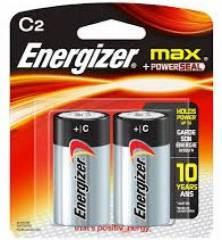 Pilha Tipo C (média) Energizer Max Blister c/ 2un.
