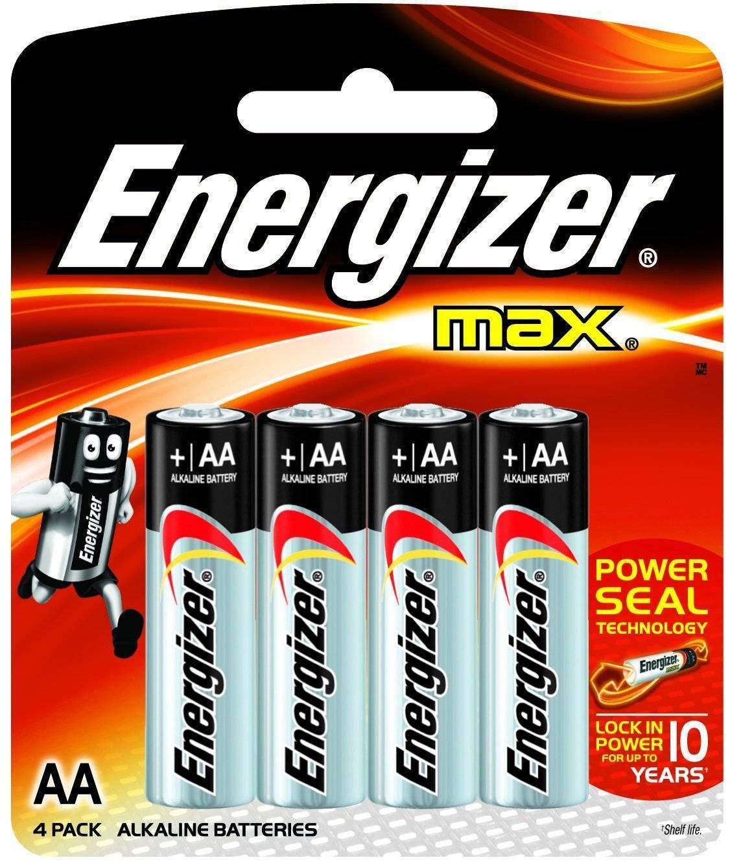 Pilha AA Alcalina Energizer Max Blister c/ 4un. - Casa da Pilha