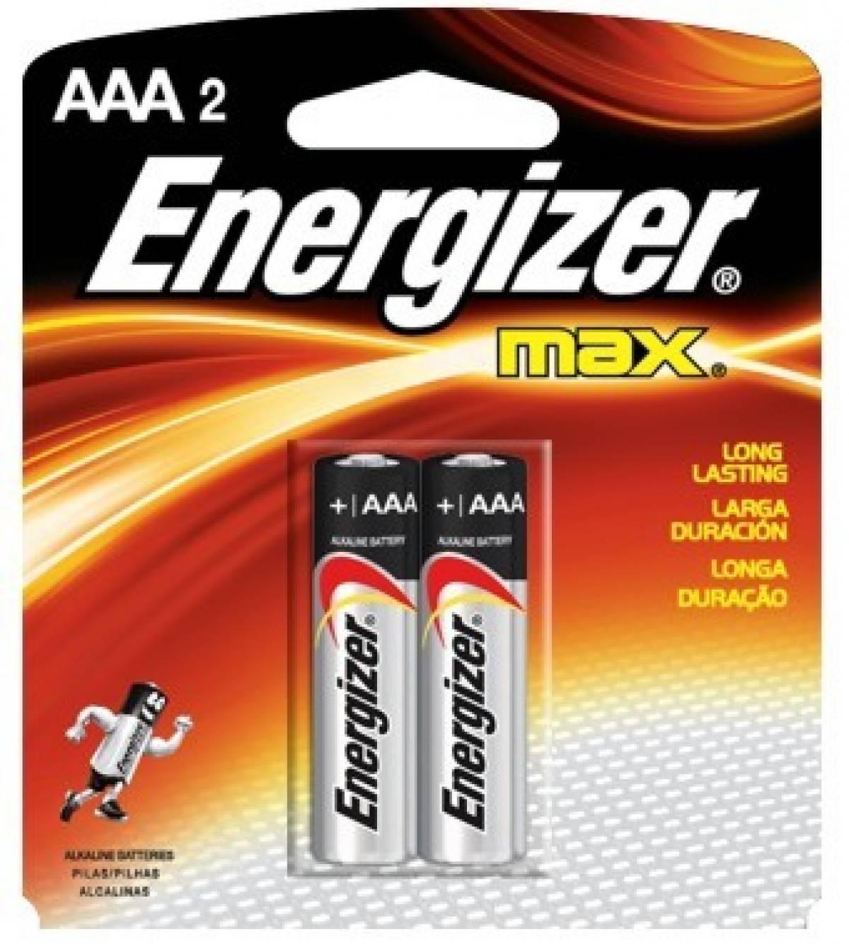 Pilha AAA Alcalina Energizer Max Blister c/ 2un. - Casa da Pilha