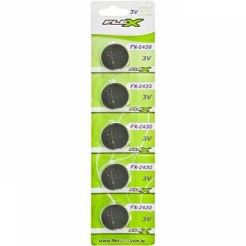Bateria Botão CR2430 3V FLEX POWER Blister c/ 5un. - Casa da Pilha