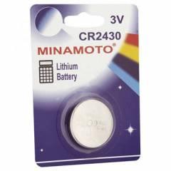 Bateria Botão CR2430 3V MINAMOTO Blister c/ 1un.