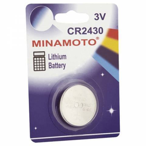 Bateria Botão CR2430 3V MINAMOTO Blister c/ 1un. - Casa da Pilha