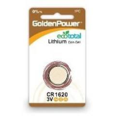 Bateria Botão 1620 3V GOLDEN POWER Blister c/ 1un.