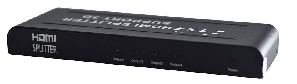 Splitter HDMI 1 entrada + 4 saídas 1.4 3D 1080P - Casa da Pilha