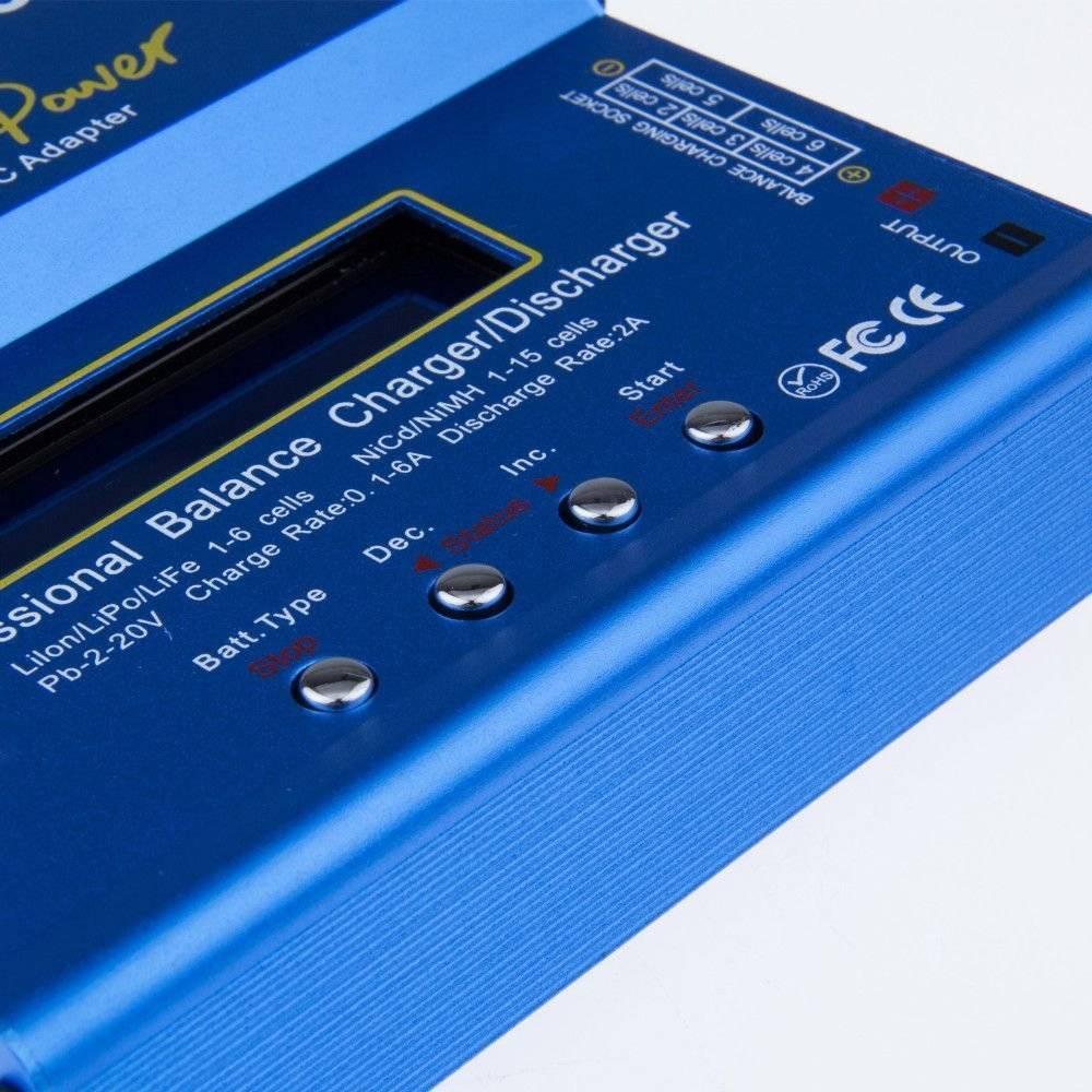 Carregador Balanceador de Bateria Lipo| Life | NIMH| NICD| Bivolt Imax B6AC FEASSO - Casa da Pilha