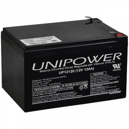 Bateria Selada 12V 12Ah UP12120 VRLA UNIPOWER - Casa da Pilha